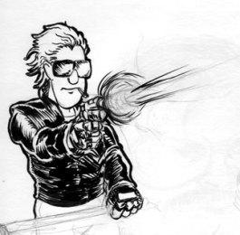 Punk with a gun