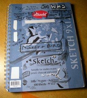 A finished sketchbook