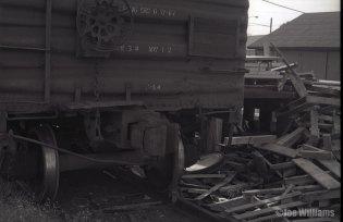 Boxcar on tracks