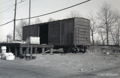 A lone boxcar