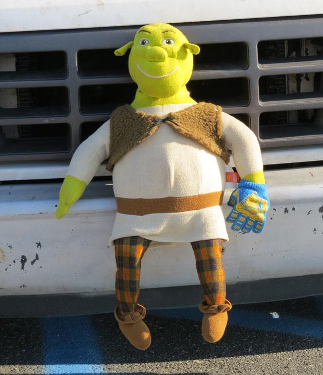 Sad Shrek doll