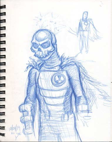 Atomic Warrior early sketch