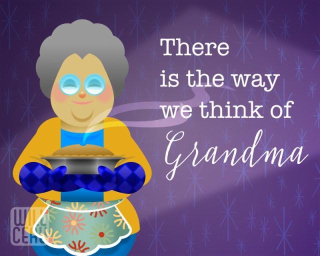 Idealized Grandmother vector illustration ©Joe Williams