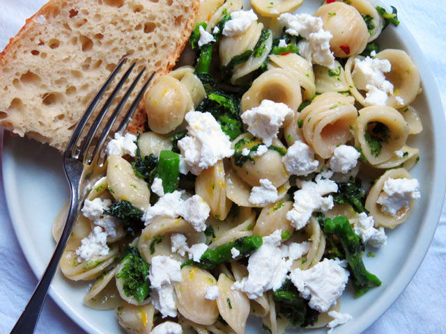 Orecchiette w/ Broccoli Rabe & Goat Cheese
