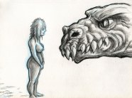 Lady meets monster