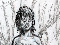 Nora emerges from the thicket