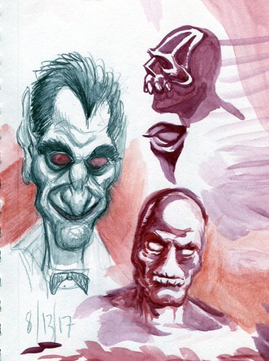 The Count and watercolor doodles