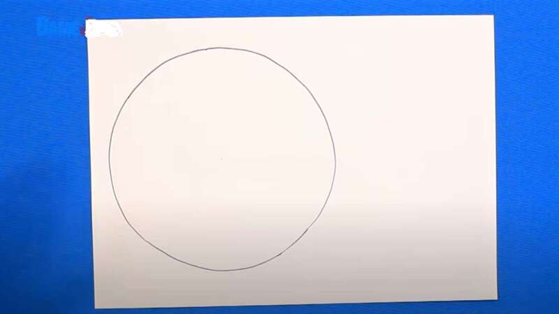 круг на бумаге