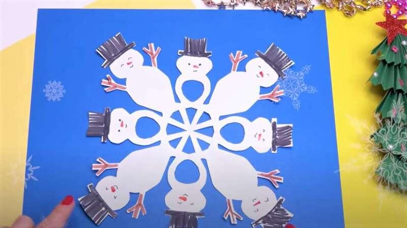 Người tuyết cho năm mới - Bông tuyết