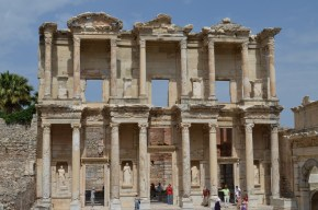 The library of Celsus was one of the great libraries of the ancient world (along with Alexandria and Pergamum)
