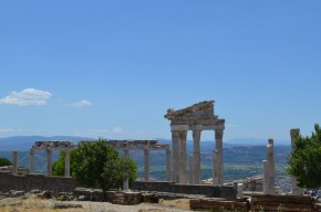 Pergamum - Looking out over Bergama from behind Temple of Trajan