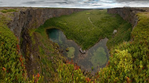 Ásbyrgi Canyon
