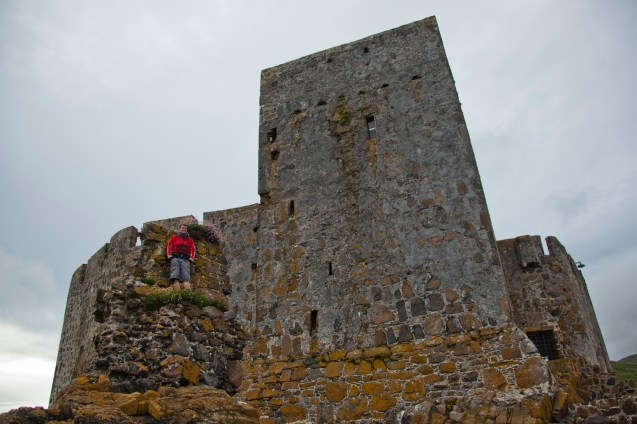 Conquering the castle...sort of.