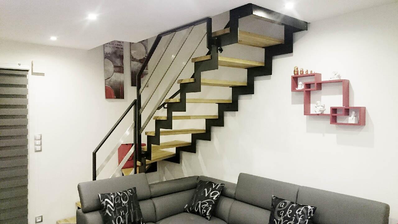 Escalier crmaillre mtal  Mtallerie BasRhin