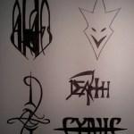 Band logos (before cutout)