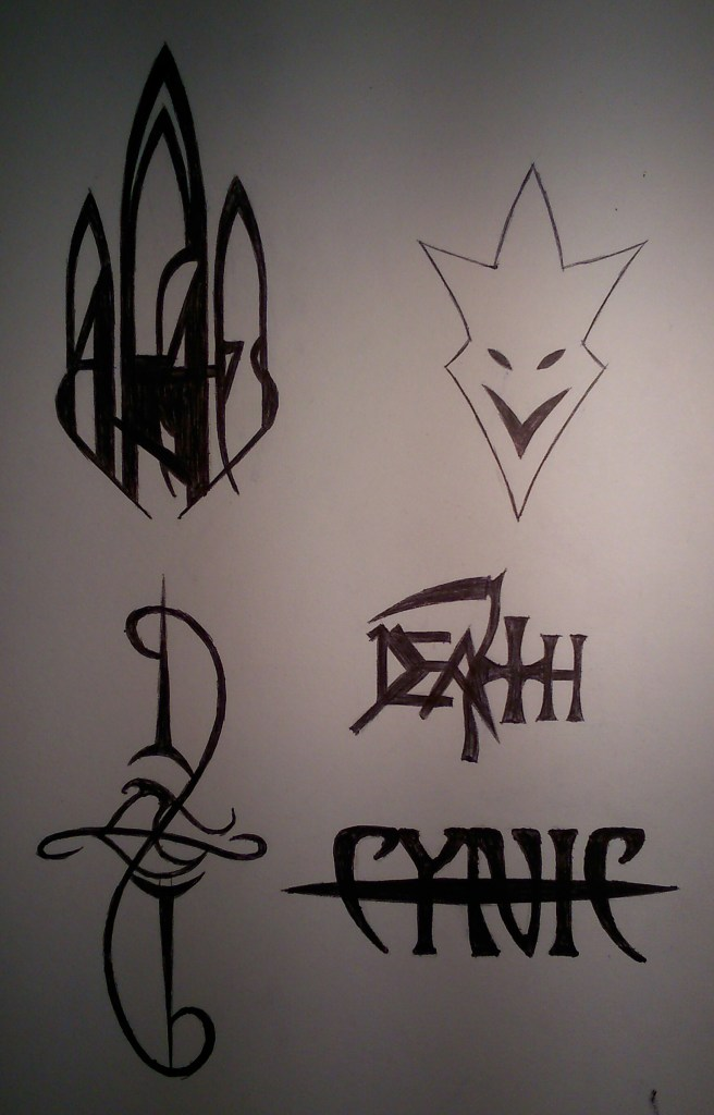 Band logos (before cutout)