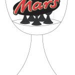 Mars Easter egg display stand