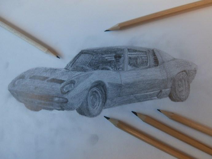 Lamborghini Miura drawing