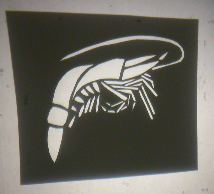 Prawn stencil projection