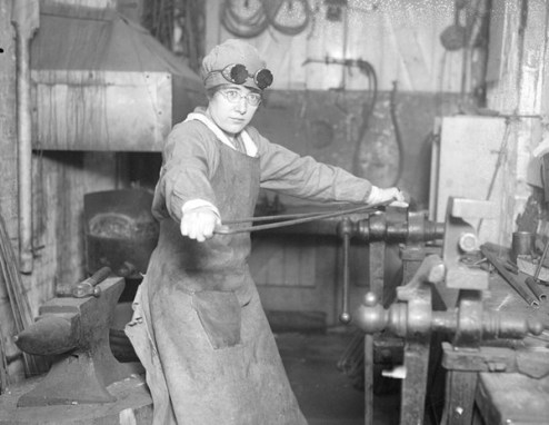 March 28, 1917 — We women, when war breaks upon us, will be called on for duty in the machine shops and for dangerous duty in the munition factories. … We will do more, and we won't be behind the men in any sacrifice for the country we are loyal to.