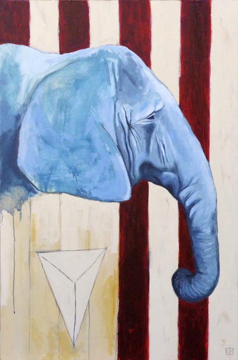 E Is For Elsa – Elephant Art Print