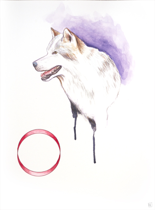 Wheel Invention Animal Art Gouache Painting Will_Eskridge