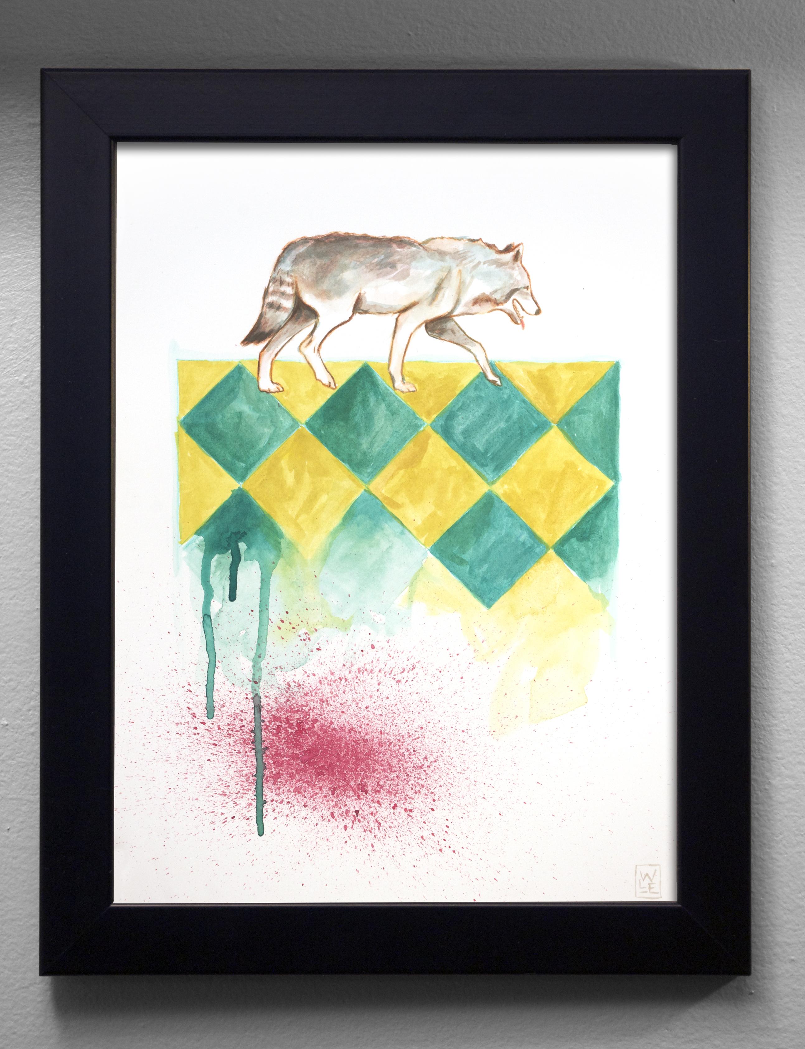 Whos For Dinner Animal Art Painting Will Eskridge In Situ