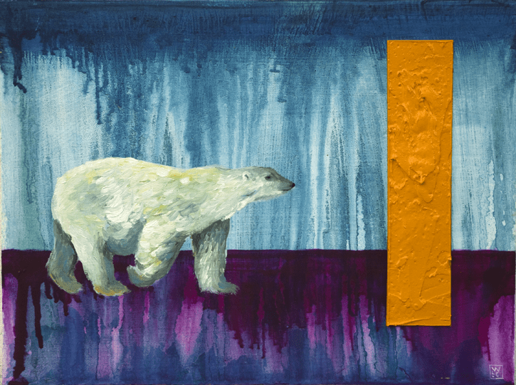 Thin Ice Animal Art Painting Polar Bear Will Eskridge