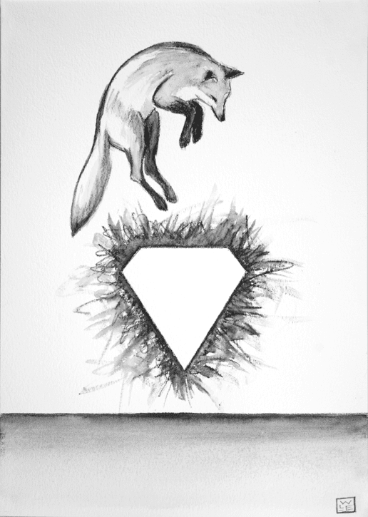 The Hunt Is Forever Surreal Animal Art Drawing Fox Will Eskridge