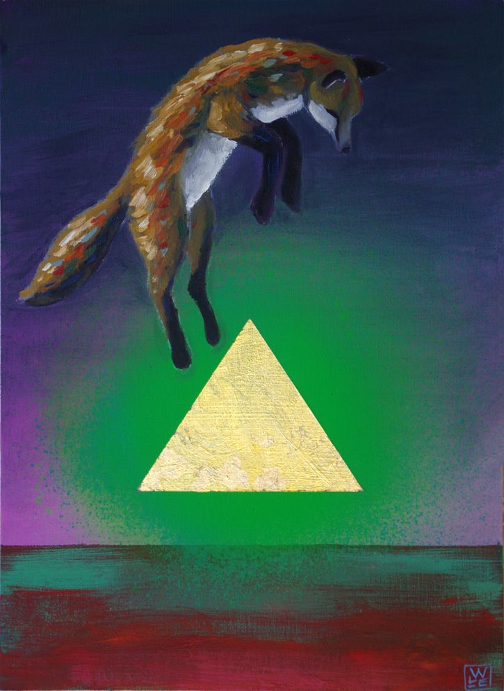 The Axis Of Survival Surreal Animal Art Painting Will Eskridge