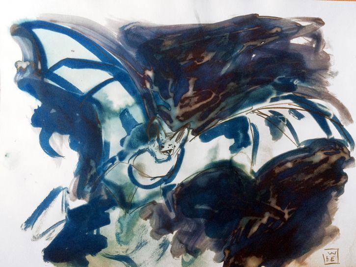 The Bat Animal Artist Art Mixed Media Will Eskridge