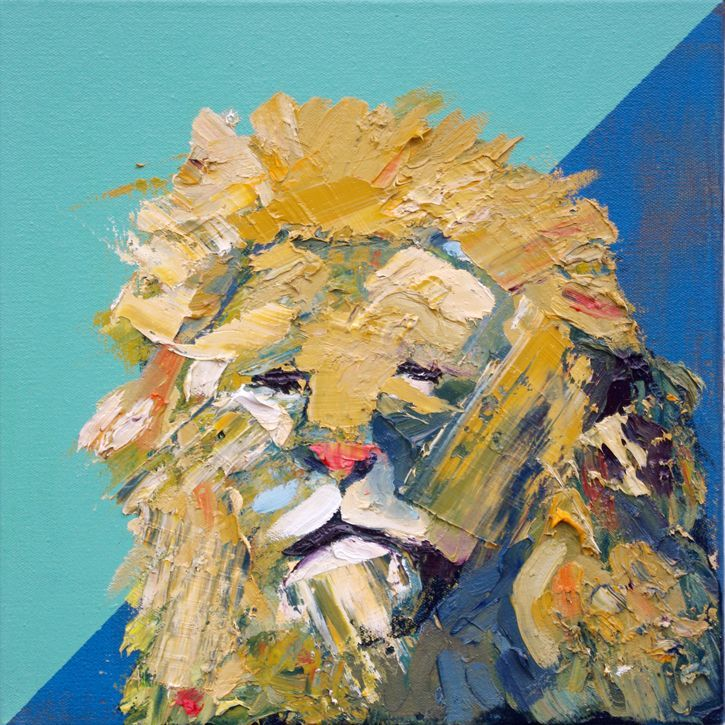 The Lion Sleeps Animal Artist Art Painting Will Eskridge