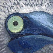 Blue Footed Booby animal art painting wildlife Will Eskridge