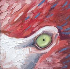 Flamingo painting animal artist art wildlife Will Eskridge