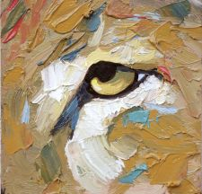 lion painting animal artist art painting wildlife Will Eskridge