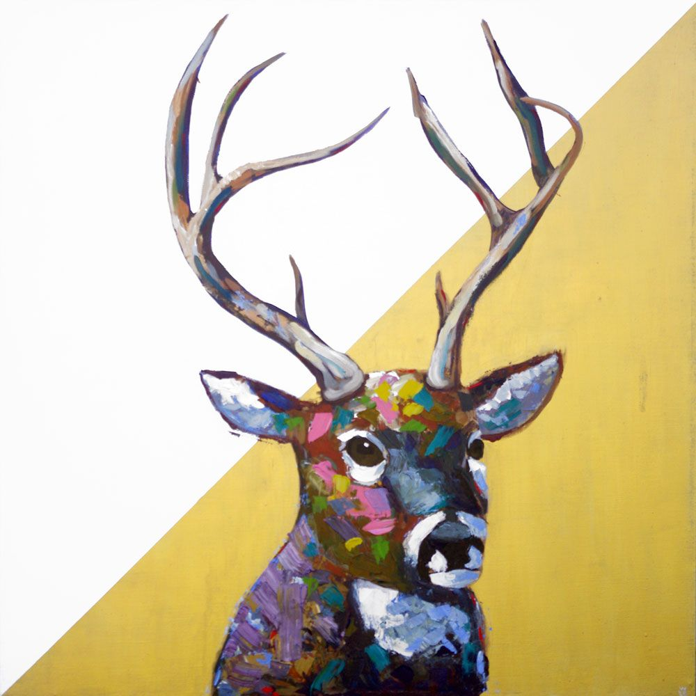 Night Shift – White-tail Deer Portrait Painting