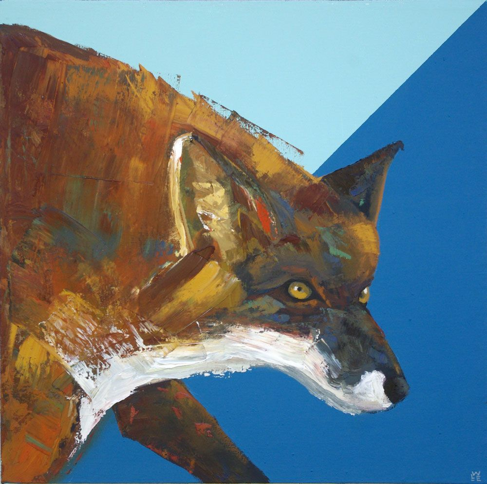 Sun And Fire – Red Fox Portrait Painting