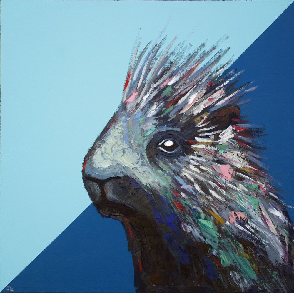 Weekend Warrior porcupine painting portrait animal artist art wildlife Will Eskridge