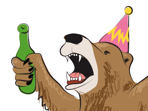 Party Bear IOS Sticker Pack ITunes Illustration Will Eskridge