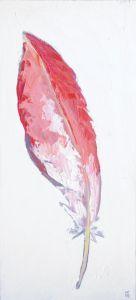 Flamingo Feather Animal Artist Art Painting Wildlife Will Eskridge-web