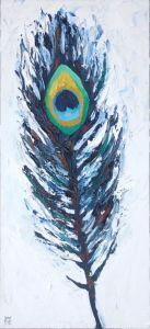 Peacock-Feather-animal-artist-art-painting-wildlife-Will-Eskridge-web