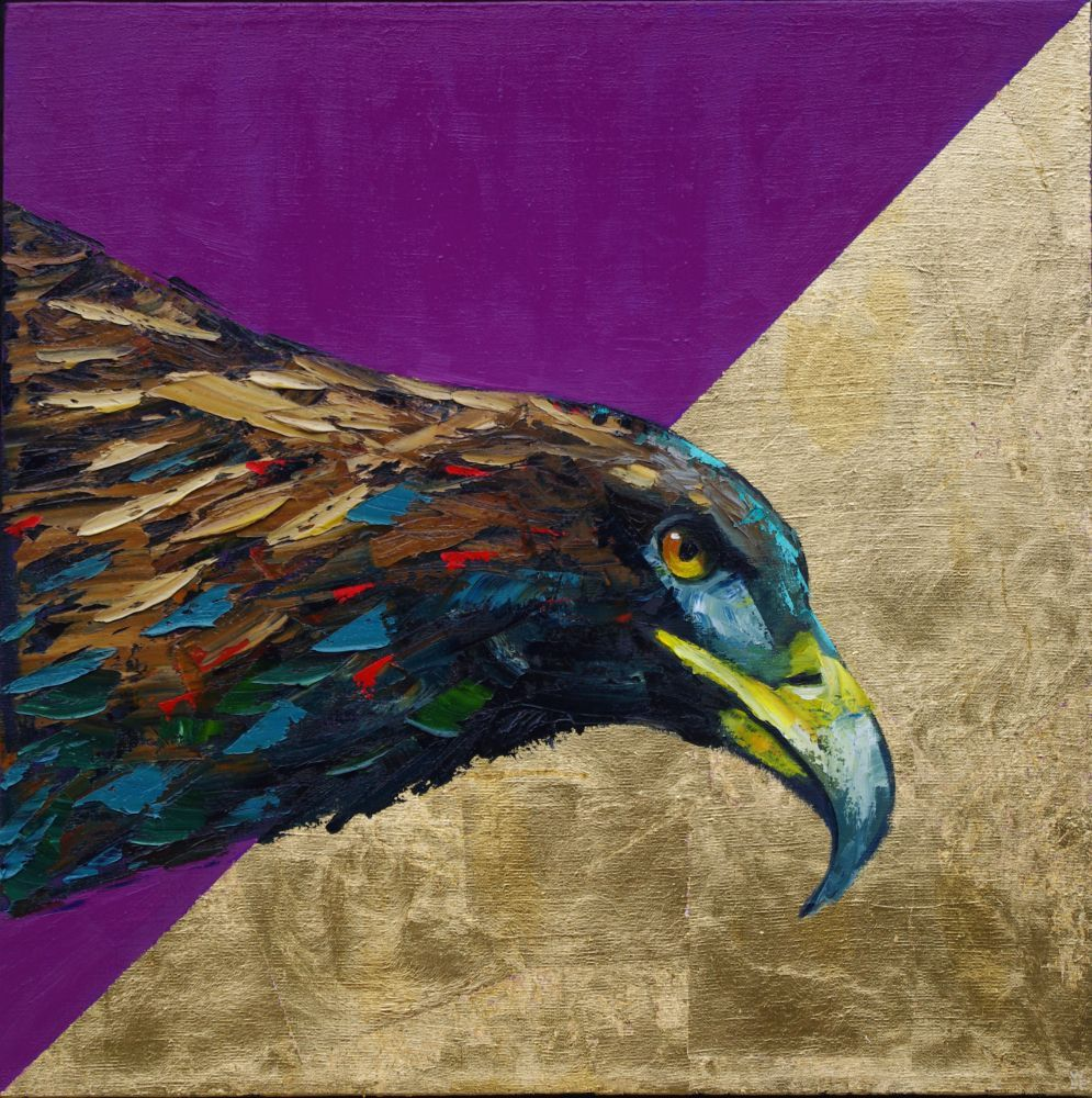Preying For Gold Animal Artist Golden Eagle Wildlife Painting Will Eskridge-web