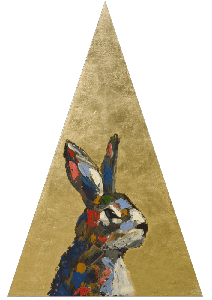 Tranquil Phases animal artist art painting bunny rabbit wildlife artwork Will Eskridge