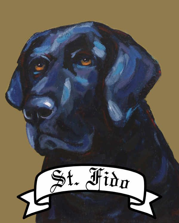 Personalized St. Dog Prints