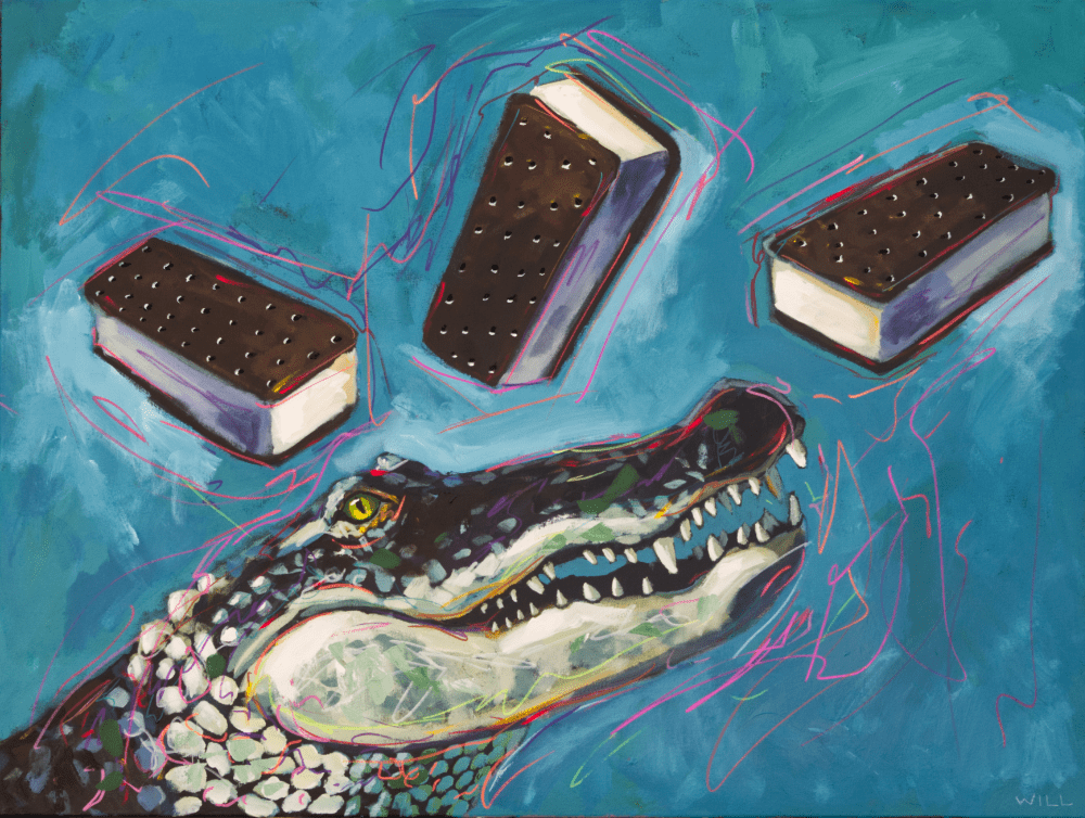 Primal Ice Cream! Alligator Painting