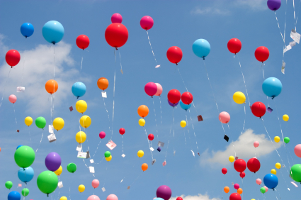 balloons in sky the