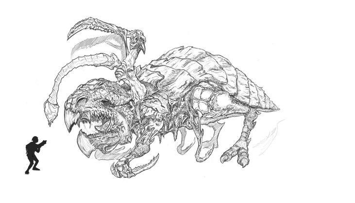 Large Monster Design Concept