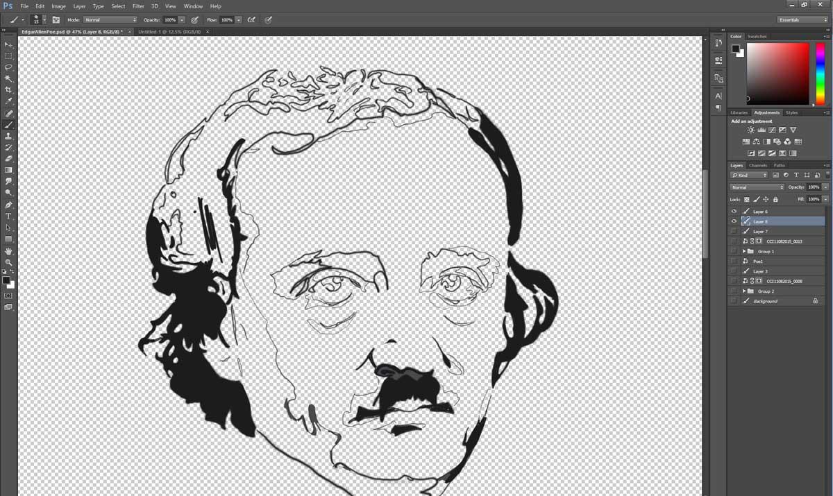 Edgar Allen Poe Work in Progress