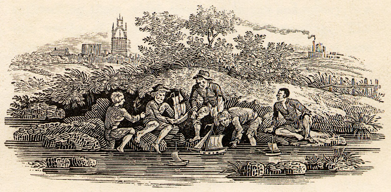 Toy_Boats_in_River_woodcut_in_Bewick_British_Birds_1804