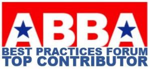 "William Bruce is a ""Top Contributor"" to the ABBA Best Practices Forum."